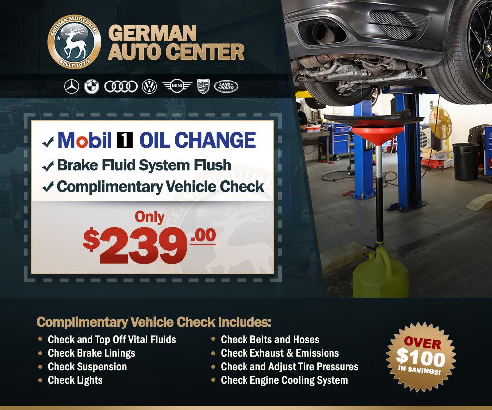 Porsche Brake Flush & Oil Change